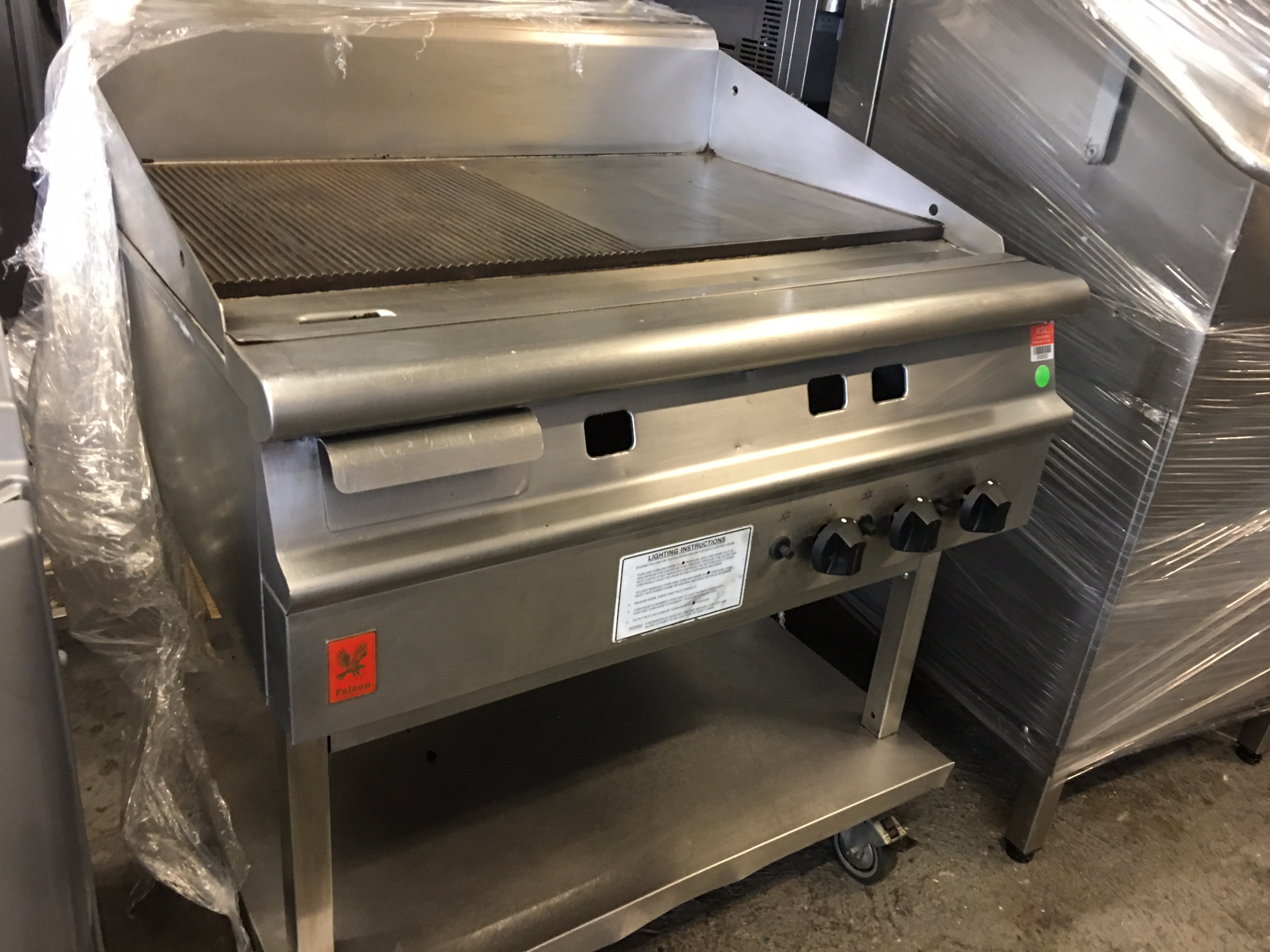 Natural Gas Griddle 90cm 163 1200 By Falcon Used Rational