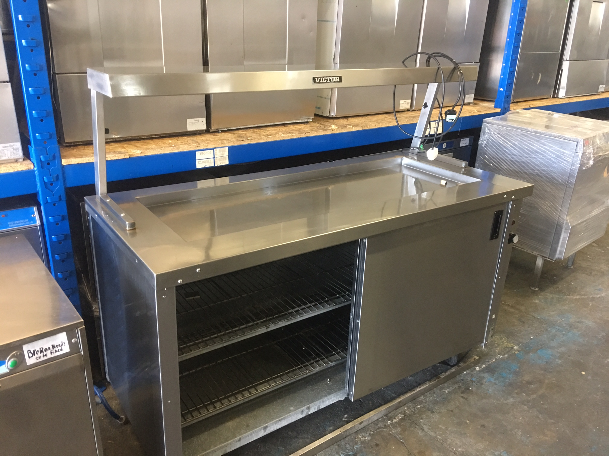 buy online dcf8b c28c3 Electric Victor Hot Cupboard with heat lamp 120cm only £650