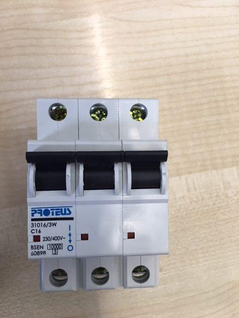 Proteus Geyer C20 20Amp Type C Triple Pole MCB 31020//3 Circuit Breaker 10kA