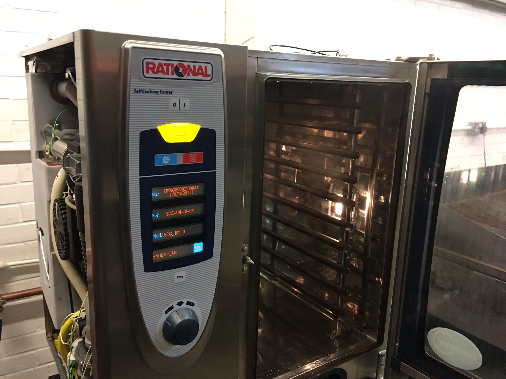 how to clean rational combi oven