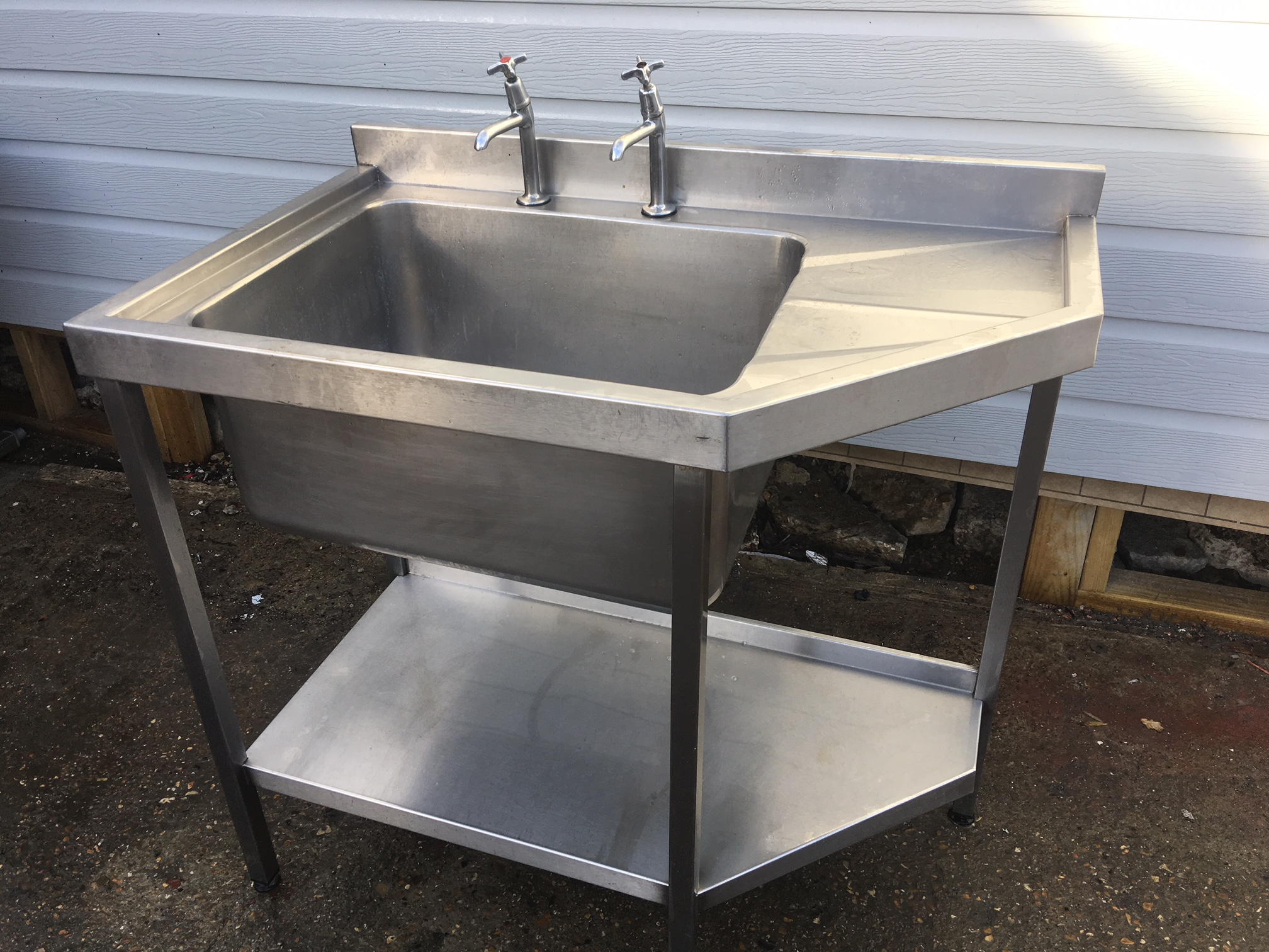 Stainless Steel Commercial Sink Single Bowl Used