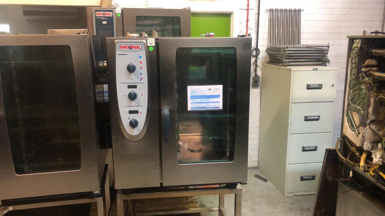 Rational cm 101g Gas ten grids combo master With stand / The Rational Combi  Master Plus is easy to operate and offers enticing functions that ensure